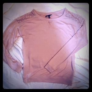 Buffalo Brand Blush Pink Longsleeve with lace